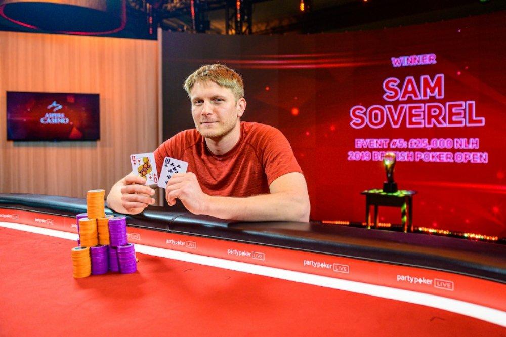 Сэм Соверел получил $390.000 за победу на турнире British Poker Open