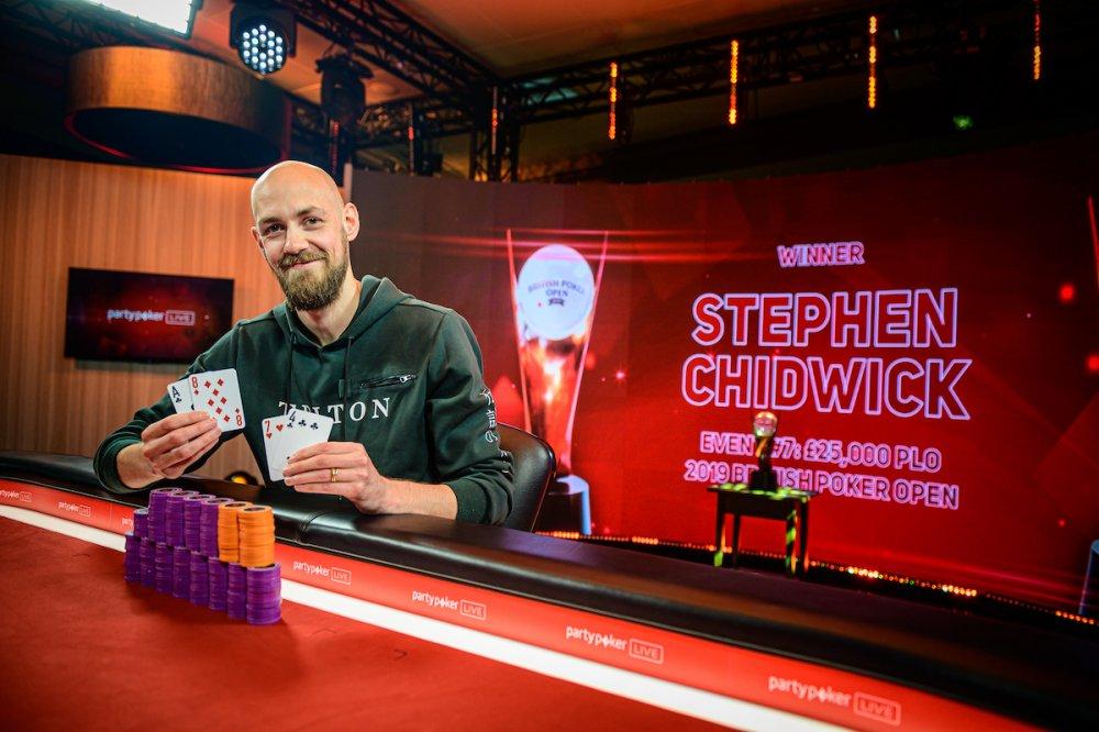 Стивен Чидвик – чемпион ивента по PLO на British Poker Open