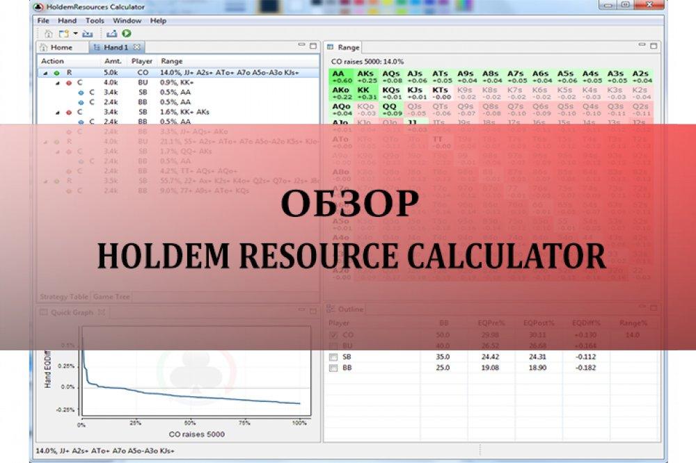 Holdem Resource Calculator