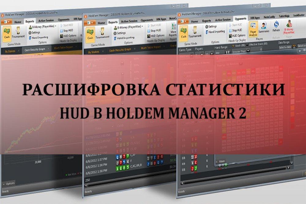 Расшифровка статистики HUD в Holdem Manager 2